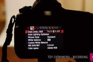 Cài đặt menu máy ảnh - MENU CHẾ ĐỘ CHỤP
